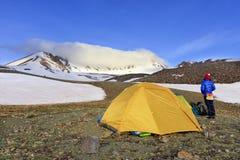Widok turystyczny namiot z zdjęcie royalty free