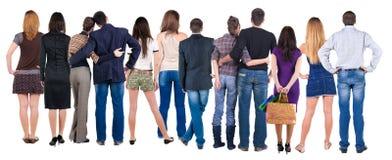 Widok tylna grupa ludzi Zdjęcia Royalty Free