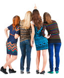widok tylne piękne grupowe kobiety Zdjęcia Stock