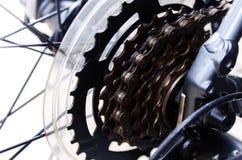 Widok tylni koło z tylni przekładnią rower Fotografia Stock
