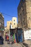 Widok typowa ulica w Sanaa, Jemen Zdjęcia Stock
