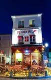 Widok typowy Paris cukierniany Consulat w Paryż, Montmartre teren, Francja Fotografia Royalty Free