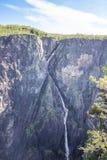 Widok Tysvikjofossen obraz stock