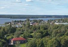 Widok ujście Vuoksi i zatoka Finlandia Zdjęcia Royalty Free