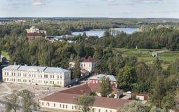 Widok ujście Vuoksi i zatoka Finlandia w punkcie obserwacyjnym górujemy w Vyborg Zdjęcia Royalty Free
