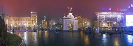 Widok łuk De Triomphe z czarnym ange Obraz Royalty Free
