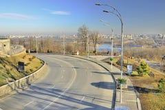 Widok ulica na skłonach Zaporoski zdjęcia stock