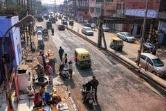 Widok ulica w Agra, Uttar Pradesh, India Zdjęcia Royalty Free