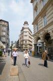 Widok ulica w centrum Hamburg Zdjęcia Royalty Free