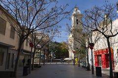 Widok ulica w magistrackim San Vincente Del Raspeig Obrazy Stock