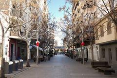 Widok ulica w magistrackim San Vincente Del Raspeig Zdjęcia Stock