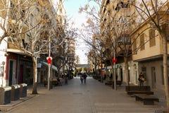 Widok ulica w magistrackim San Vincente Del Raspeig Obrazy Royalty Free