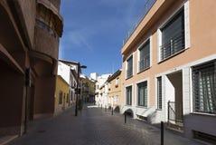 Widok ulica w magistrackim San Vincente Del Raspeig Zdjęcie Stock