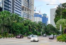 Widok ulica w Singapur Zdjęcie Stock