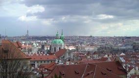 Widok ulica w starym centrum Praga zdjęcie wideo