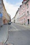 Widok ulicy Warszawa obraz stock