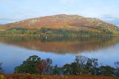Widok Ullswater w jesieni obrazy stock