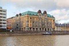Widok urząd miasta i aury rzeka Zdjęcia Stock