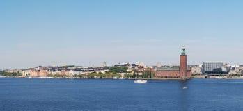 Widok urząd miasta w Sztokholm, Szwecja (Stadhuset) Obraz Royalty Free