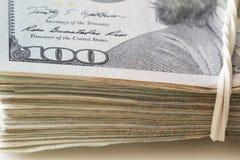Widok usa dolary, udział pieniądze zdjęcie royalty free