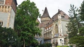 Widok Vajdahunyad kasztel, piękna architektura, Budapest, Węgry obraz stock