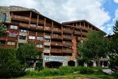 Widok Val d ` Isere, ośrodek narciarski w Francja Fotografia Stock