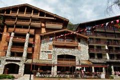 Widok Val d ` Isere, ośrodek narciarski w Francja Obraz Royalty Free