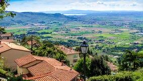 Widok Val Di Chiana w Tuscany, Włochy Obrazy Stock