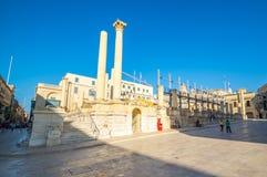 Widok Valletta oldtown Zdjęcia Stock