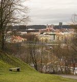 Widok Vilnius i kościół święty James i Philip Obraz Royalty Free