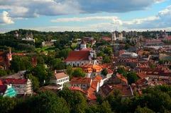 Widok Vilnius od Gediminas ` wierza Zdjęcia Stock