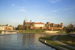 Widok Vistula rzeka w historycznym centrum miasta Obrazy Stock