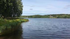 Widok Vuoksa rzeka w Finlandia zdjęcie wideo