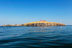 Widok Węża Wyspa na wysokich morzach Obrazy Stock