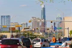 Widok w śródmieście od Południowego kongresu Zdjęcia Royalty Free