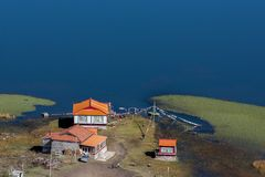Widok w średniogórzu, Sichuan, Chiny zdjęcia royalty free