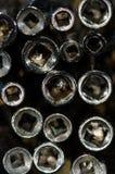 Widok W baryłkę set Antykwarscy Kieszeniowego zegarka klucze Fotografia Royalty Free