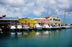 Widok w centrum Bridgetown miasto w Barbados, kapitałowy i wielki Obrazy Stock