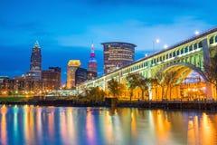 Widok w centrum Cleveland obraz royalty free