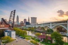 Widok w centrum Cleveland obrazy stock