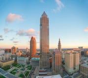Widok w centrum Cleveland Zdjęcia Stock