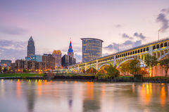 Widok w centrum Cleveland zdjęcie stock