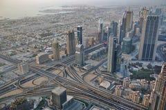 Widok w centrum Dubaj od Burj Khalifa fotografia royalty free