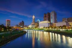 Widok w centrum Kolumb Ohio linia horyzontu zdjęcie stock