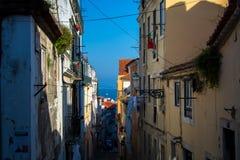 Widok w centrum Lisbon Fotografia Royalty Free