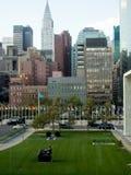 Widok W centrum Manhattan od UN kwater głównych Fotografia Royalty Free