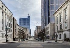 Widok w centrum Raleigh, północny Carolina Obrazy Royalty Free
