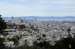 Widok w centrum San Fransisco od Bliźniaczych szczytów Obraz Royalty Free