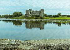 Widok w górę Carew rzeki, Pembrokeshire zdjęcie stock