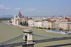 Widok Węgierski Parlament obrazy royalty free